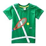 Bekleidung JYJMKleinkind Kinder Baby Jungen Mädchen Kleidung Kurzarm Cartoon Tops T-Shirt Bluse (130, GrünA)