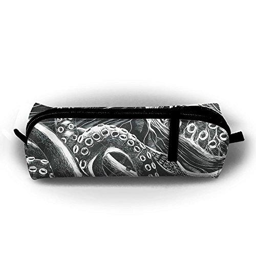 Ocean Storm Octopus Student Federmappe mit Reißverschluss Kosmetiktasche Tasche klein Münzfach?, für Kinder Teenager und anderen Schulbedarf