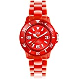 ICE-Watch - Montre Mixte - Quartz Analogique - Ice-Solid - Red - Unisex - Cadran Rouge - Bracelet Plastique Rouge - SD.RD.U.P.12