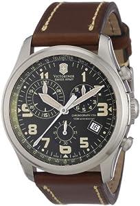 Reloj Victorinox Swiss Army de cuarzo para hombre con correa de piel, color marrón de Victorinox Swiss Army