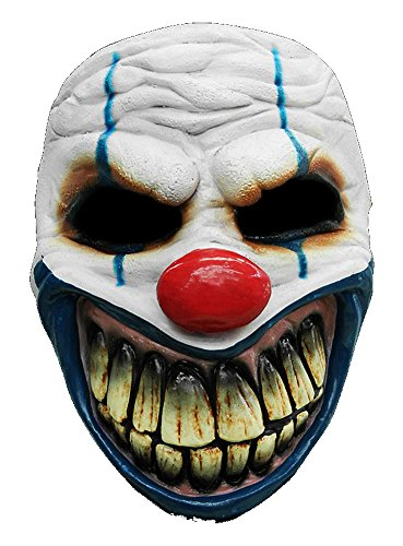 Halloween Karneval Party Kostüm Clown Maske des Grauens aus Latex für Erwachsene (Killer Clown Maske Kostüm)