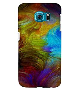 PrintVisa Colorful Modern Art Design 3D Hard Polycarbonate Designer Back Case Cover for Samsung Galaxy S6 Edge