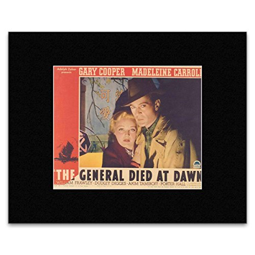THE GENERAL DIED AT DAWN - Gary Cooper and Madeleine Carroll Matted Mini Poster - 20x25.2cm (Gary Cooper-poster)