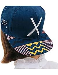Vovotrade Lettre Hip-Pop X Chapeau plat Casquette de Baseball Hip-Hop Peaked Cap Chapeau de Sport