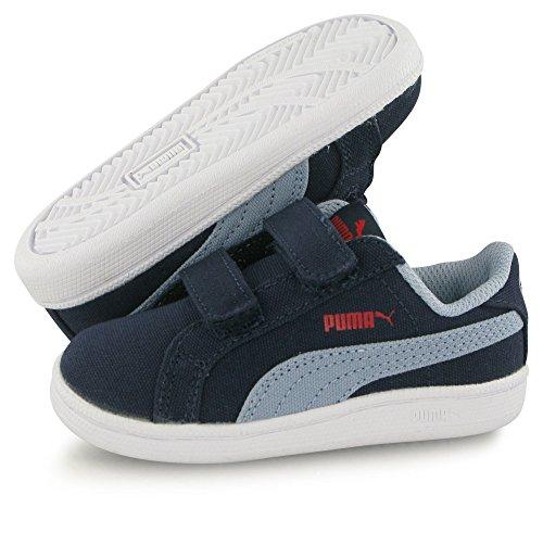 Puma Smash Fun Canvas bleu, baskets mode enfant Bleu