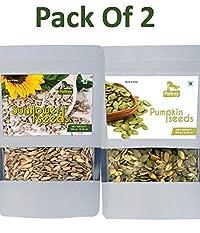 Pumpin Seeds & Sunflower Seeds (Pack of 2) Each 300g