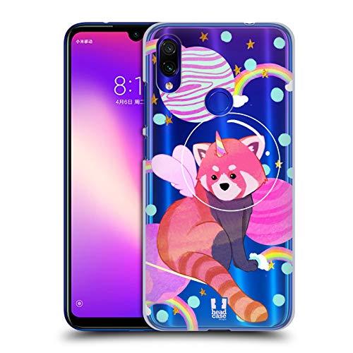 Head Case Designs Roter Panda Raum Einhoerner 2 Harte Rueckseiten Huelle kompatibel mit Xiaomi Redmi Note 7/7 Pro Panda-design Hard Case