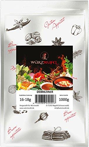 Debreziner Gewürz, Debrecziner Gewürzzubereitung, kräftig rot, würzig - pikant. Beutel: 1000g. (1KG)