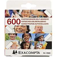 Exacompta Recambios Pack de 600 Esquinas Autoadhesivas para Fotos, Blanco, 9.00x9.00x2.50 cm, Unidades