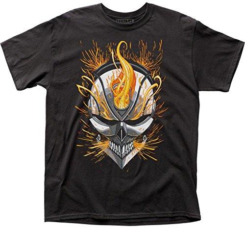 Ghost Rider - Camiseta - Camiseta gráfica - Manga Corta - Opaco - para Hombre Negro Negro Medium