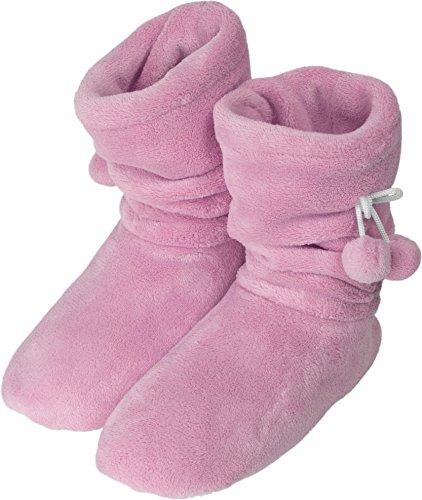 normani Damen Wintertrend Hausschuhe Stiefel Booties VIELE Farben ZUR Auswahl Farbe Rosa Größe 35/38