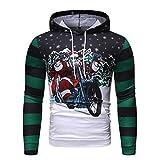 Unisex Herren Damen Weihnachten Kapuzenpullover Lustiges Sweatshirt Langarm T-Shirt Warm Hoodie -
