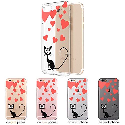 Ooh.Color® Fitty Love Design Case per Samsung Huawei iPhone Cover Custodia Protettivo elastico Print Pattern Transparent Motiv duenne flexibele lusso custodia slim silicone TPU bianco design 5 für iPh design 4