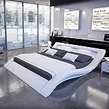 Innocent Polsterbett aus Kunstleder mit LED-Beleuchtung Look Weiß, 200 x 200 cm