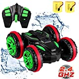 SZJJX RC Stunt Remote Control Cars Boat 4WD 6CH 2.4Ghz Off Road Electric