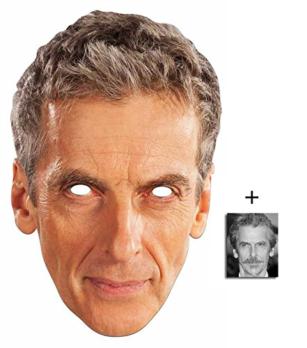 Peter Capaldi Doctor Who Karte Partei Gesichtsmasken (Maske) (The 12th Doctor) - Enthält 6X4 (15X10Cm) (Doctor Kostüm Who Karte)