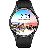 SmartWATCH Premium HQ1 Reloj Bluetooth con WhatsApp* y tarjeta SIM Android OS (Google Play Store, medidor de ritmocardíaco, GPS) para Apple iPhone (iOS*) y Android, Technikware Negro