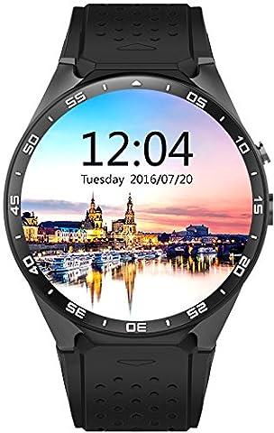 SmartWATCH Premium HQ1 (Original) Uhr Bluetooth Watch mit WhatApp* und SIM-Slot (Android OS, Pulsmesser, GPS) für Android & Apple iPhone (iOS*), Technikware