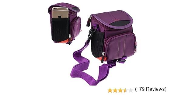 Navitech housse étui violet pour appareil photo numérique Panasonic  DMC-TZ80EB   DMC-TZ60   DMC-TZ70   DMC-TZ80  Amazon.fr  Photo   Caméscopes 9deb4386bafa