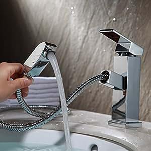 Kes rubinetto con doccetta estraibile singola leva bagno - Rubinetto estraibile bagno ...