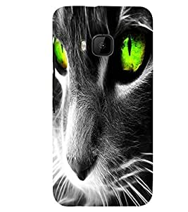 PRINTSWAG ANGRY CAT Designer Back Cover Case for HTC ONE M9