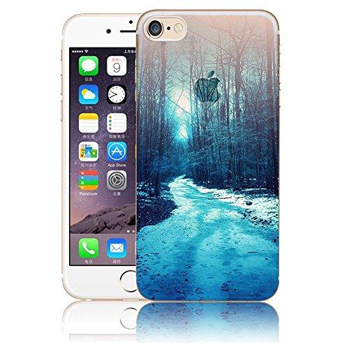 Art Coque pour iPhone 6 6S,Vandot iPhone 6 6S Case Paysage Creative Painting Peinture Housse de téléphone pour iPhone 6 6S Silicone modèle Cas Téléphone TPU Retour arrière Coque Bumper-Montagnes ennei ABC-29