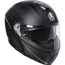 AGV Sports Modular Tricolore Mate Carbon Italia Motocicleta Casco