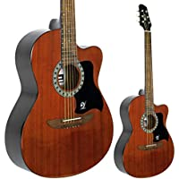 Lindo Apprentice Series Mahogany Top Acoustic Guitar with Free Carry Case