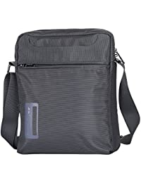 Bolso de hombro de la lona de la vendimia Bolso de hombro de la bolsa de mensajero de los hombres (grey)