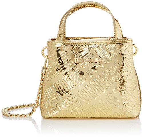 Love Moschino Damen Borsa Embossed Patent Pu Oro Baguette, Gold (Gold), 15 x 19 x 6 cm