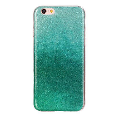 "MOONCASE Ultra-thin TPU Silicone Housse Coque Etui Gel Case Cover Pour iPhone 6 / iPhone 6S 4.7"" JauneVert Mint Vert"