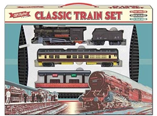 Classic Retro Train Set with over 4 Metres of Track - battery operated - highly rated by customers
