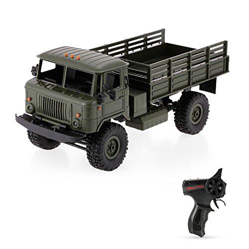 Goolsky WPL B-24 1/16 2.4 GHz Vehículo militar RC Off-road del vehículo eléctrico del coche del ejército con el regalo ligero de los niños de RTR