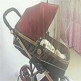 Queta aumentare il bambino auto Full crittografia insetti zanzariera bambino passeggino zanzariera Full cover mosquito net(coffee)