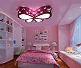LED-Leuchten Cartoon Kinderzimmer Deckenleuchten Jungen Mädchen Stern-Schmetterling Baby-Raum-kreative Karikatur-Schlafzimmer-Lampen (pink)