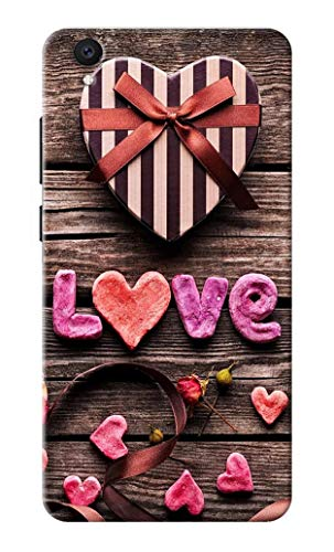 Oye Stuff Hearts/Love Printed Designer Case, Slim and Light Weight Back Cover for VivoY51L6235