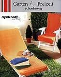 Frottierbezug DYCKHOFF Gartenstuhl Frotteebezug Stuhl Bezug Husse Schonbezug 130x60 Hell ROT