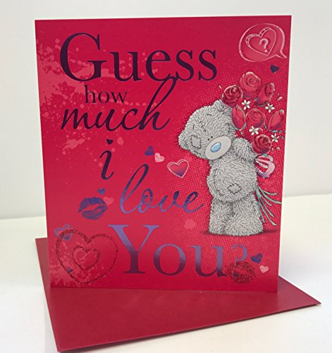 Guess How Much I Love You? Me to You Teddybär Sweet Flower Valentinstag neu Karte -