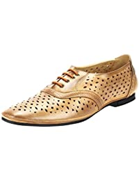 Goose Men'S Yellow Synthetic Leather Lace Up Formal Shoes (Goose9)