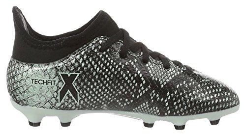 adidas X 16.3 Fg, Scarpe da Calcio Unisex – Bambini Multicolore (Vapour Green/core Black/core Black)
