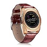 SO-buts Bluetooth mit Herzfrequenz Smart Uhr Wasserdichte Blut Sauerstoffüberwachung Uhr Pulsuhr Überwachung (Golda)