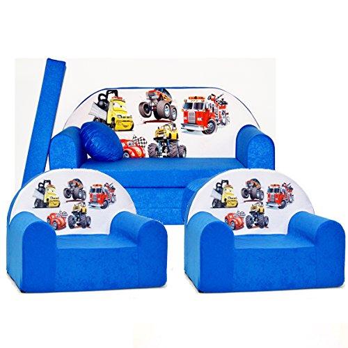 Barabike C14 kit de Lot, Mini pour Enfants, bébé Lot de 3 pour Enfants Canapé + 2 Fauteuil pour Enfant