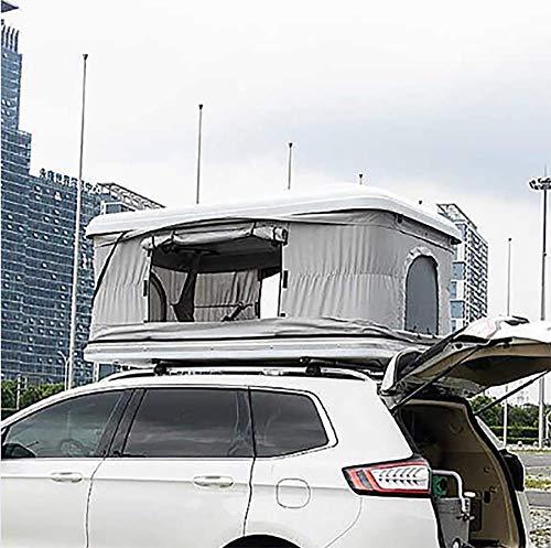 Autodachzelt 2-3 Erwachsene wasserdichtes Automobildachzelt ABS Shell Markisen Campingausrüstung mit Verlängerungsleiter und LED-Leuchten