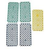perfk 5pcs Kunststoff Rechteck Fußbodenmatte Lochmatte für Kleintiere Kaninchen Käfig, 29 x 15 x 0,5 cm