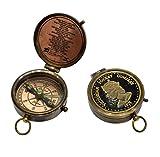 The New Antique Store regalo bellissimo Mariner Bussola bussola tascabile auto navigazione Bussola tascabile in ottone bussola