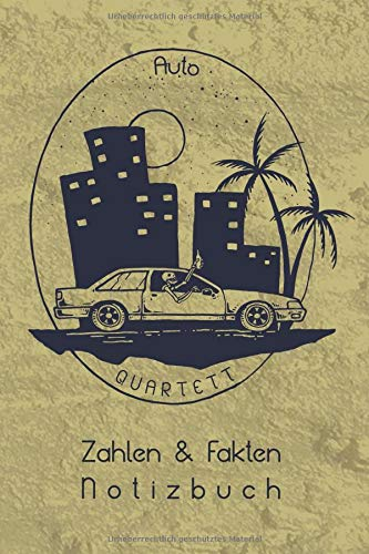 Gebraucht, Auto Quartett Zahlen & Fakten Notizbuch: Car Spotter gebraucht kaufen  Wird an jeden Ort in Deutschland