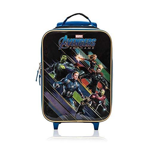 Les Valises TGI Inc. Marvel Avengers End Game Soft Side Trolley Luggage Case for Kids - 16 Inch [Black] Soft-side Case