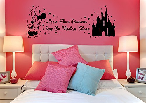 disney-minnie-mouse-magical-things-castle-childrens-vinyl-wall-art-sticker-decal-mural-transfer-sten