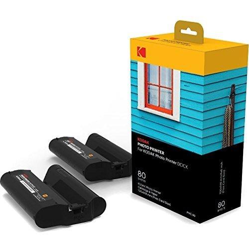 Kodak Station & W-LAN Fotodrucker-Patrone-PHc– Nachfüllpatrone und Fotopapiere - 80 Blätter