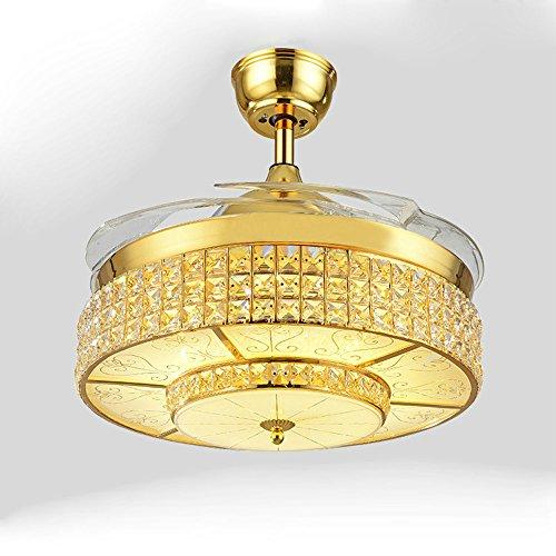 SAEJJ-Azione furtiva ventilatore plafoniere a LED, soggiorno sala da pranzo